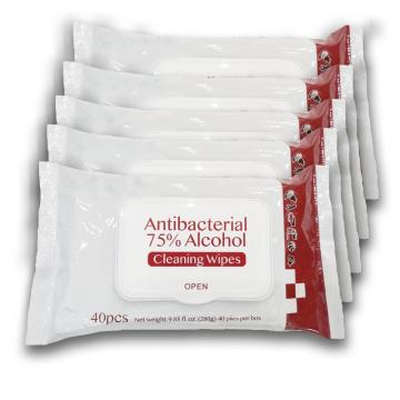1PCS Per Bag, Individual Packing,  Hand Disfincting Cleaning Wipes, Alcohol Wet Wipes for Daily Cleaning