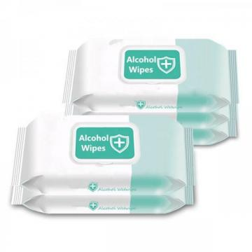 75% alcoholic disinfection wipes 50Pcs small package customized export public and Household cleaning wipes Adults available OEM