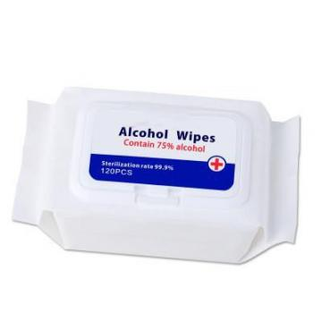 Supplier 80 pieces of alcohol sterilization clean wipes portable can be customized packaging