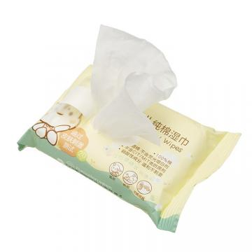 Antibacterial Nonwoven Spunlace Individual Wrapped Customized Single Pack Wet Wipes