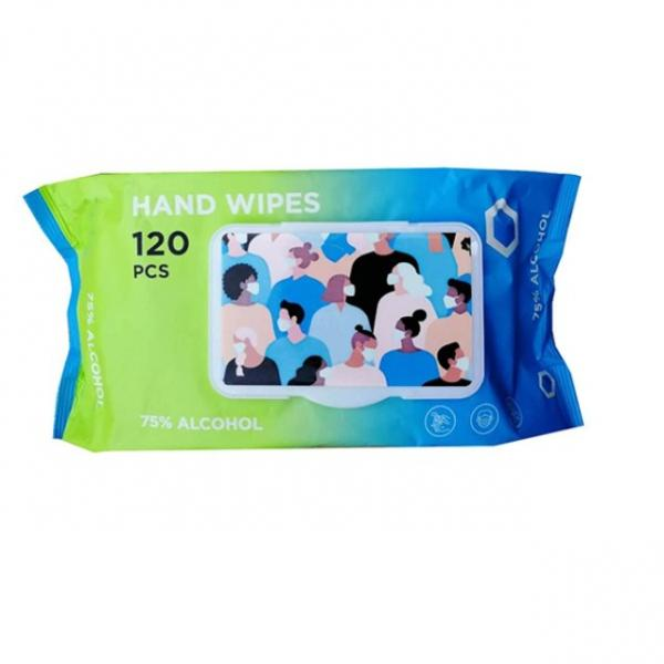 Chinese Suppliers 80PCS/Pack Disinfectant Wet Wipes Single Use Sanitizing Wipe Dispenser Alcohol Wet Tissue Wipe for School