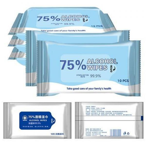70 PCS Canister Alcohol Wipes Disinfectant Wipes Hand Sanitizer Wet Wipes FDA/Ce