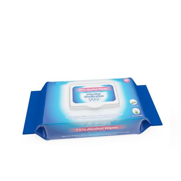 Disposable 70 PCS/Barrel 75% Alcohol Portable Antiseptic Disinfection Wet Wipes