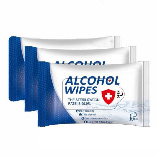 10ct Disinfection 75% alcohol wet wipes