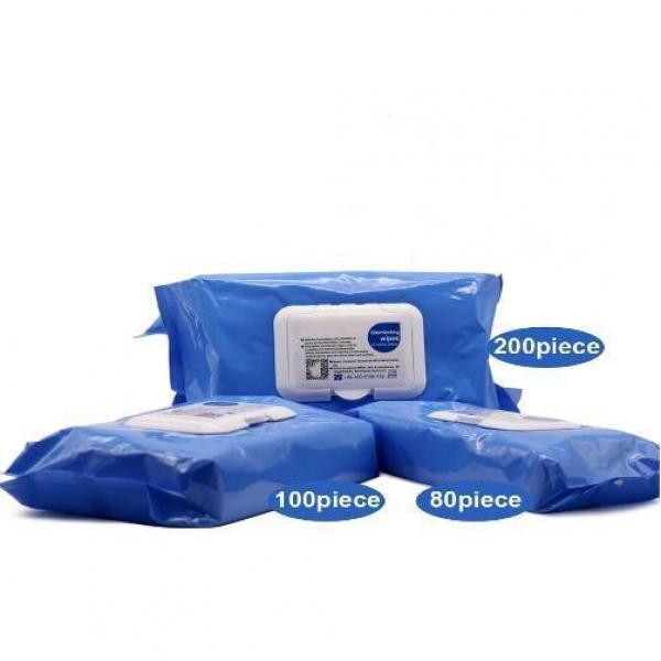 Antibacterial Wet Wipes Antiseptic Alcohol Pad Portable Antibacterial Wipes