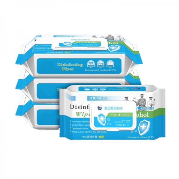 75% Alcohol Wipes Cotton Antibacterial Disinfectant Wipes in Stock