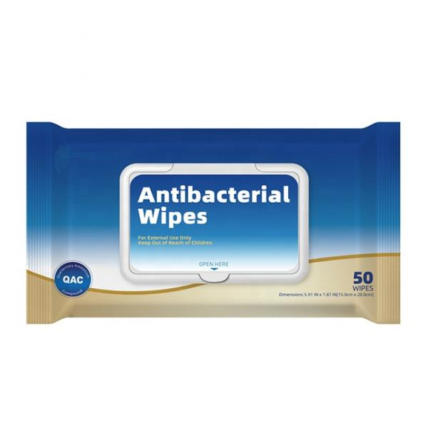China Factory Private Label or Stock Alcohol Base Antiseptic Disposable Disinfectant 80 PCS Wet Wipes