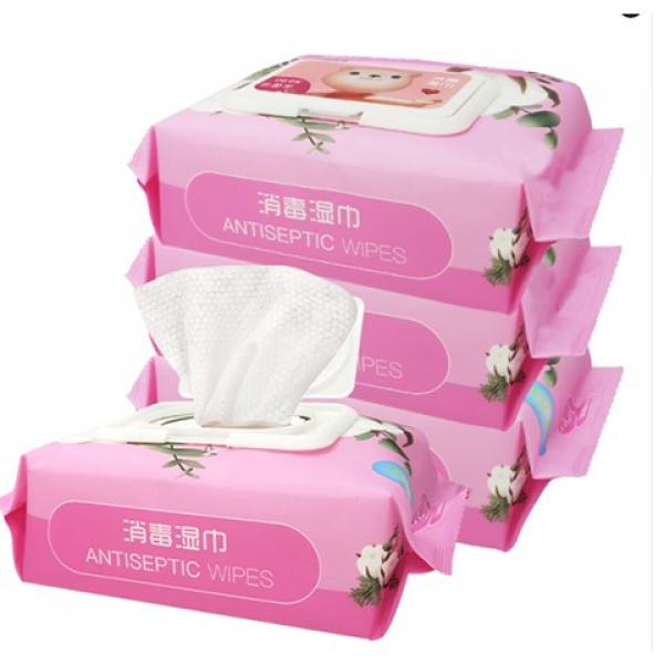 Wipes 75% alcohol hand cleansing wet wipes