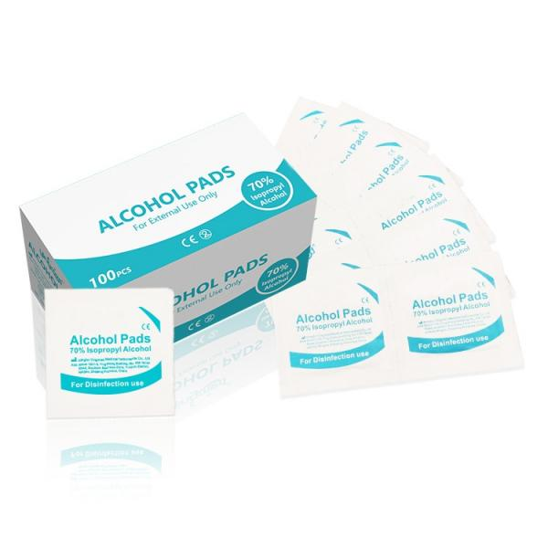 70% Isopropyl Alcohol and 2% Chlorhexidine Gluconate Non Woven Wet Wipes Medical Prep Pads