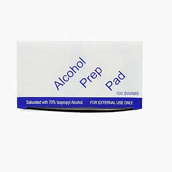 hot sale medical level family sterile medical cotton alcohol swabs prep pads for wound caring
