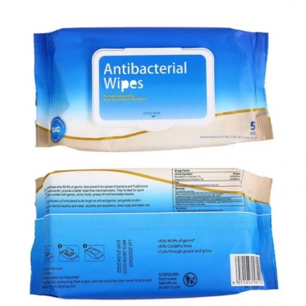 Antiseptic 75% alcohol non woven disinfectant wet wipes